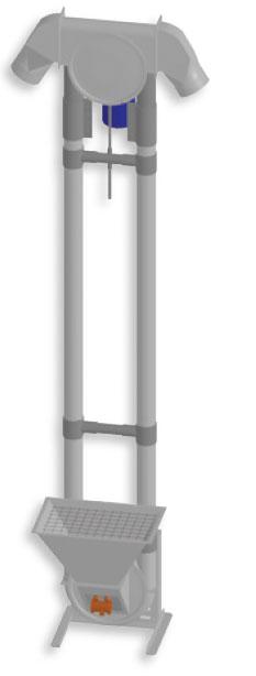 Bidirectional Aero-Mechanical Conveyor (vertical)