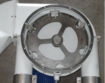 Discharge corner Aero-Mechanical Conveyor