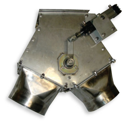 Pneumatic diverter valve Aero-Mechanical Conveyor