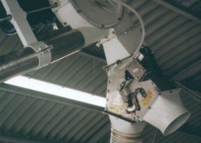 convogliatore aeromeccanico con valvola deviatrice